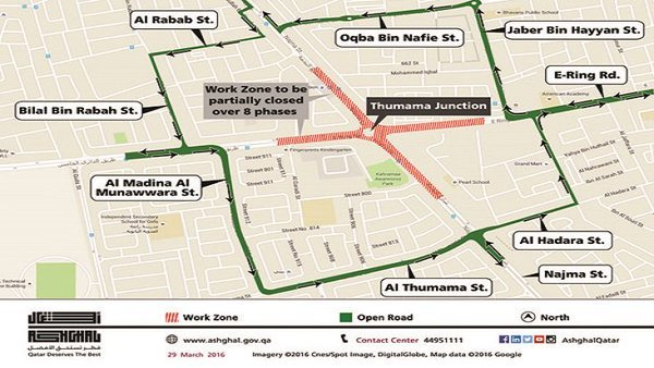 Al Thumama junction closed for 36 hours over this weekend