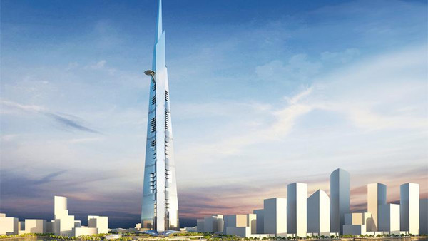 Liebherr Cran to place top of Jeddah Kingdom Tower