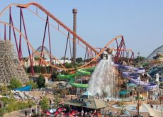 Construction on Six flags theme park comes to a halt