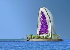 Dutch architects envisage hotel appearing to be constructed from precious stone in Dubai