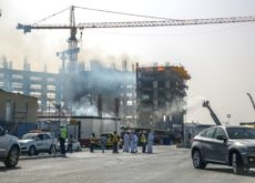 Fire at the upper level of Place Vendôme construction site in Qatar