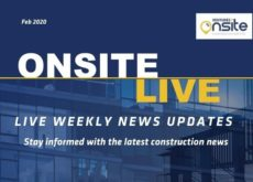 Onsite Live Weekly Construction News Update - 13/02/2020