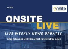 Onsite Live Weekly Construction News Update - 30/01/2020