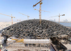 UAE-based Arabtec in final stages of the external facade cladding work on the Louvre Abu Dhabi museum