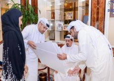Ruler of Ajman review designs for development of Martyrs' Square