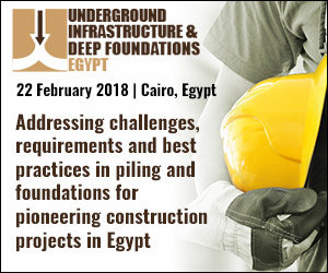 3rd Underground Infrastructure and Deep Foundations Egypt