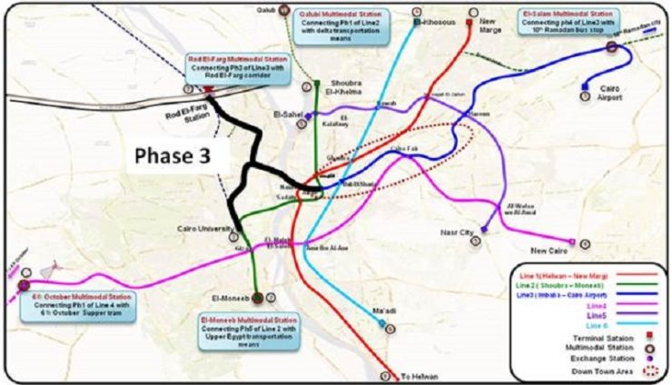 Construction cost of Phase 3 Cairo Metro Line worth US$ 5.8 bn