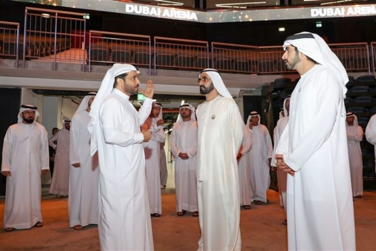 Ruler of Dubai visits Arena hospitality and leisure project in the city