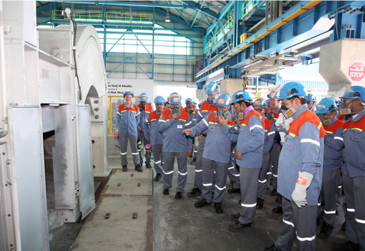 Alba inspects final stage of Line 6 Expansion project