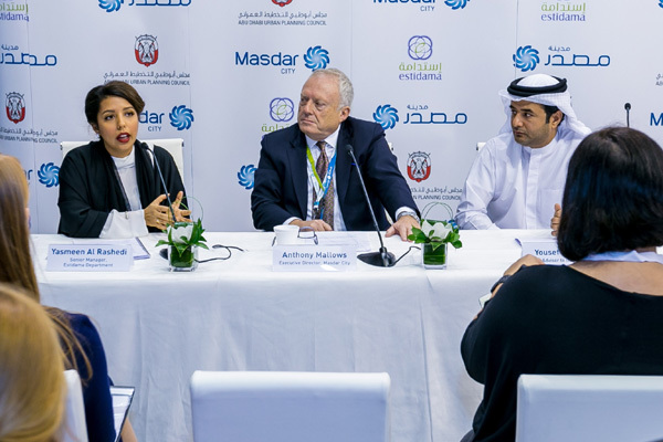 Abu Dhabi UPC and Masdar officials at the signing ceremony. Pic courtesy: Tradearabia