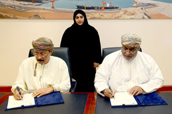 Truck Oman Projects, Oilfield Services Company sign